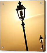 Lamps At Sunset Acrylic Print
