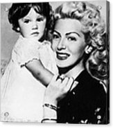 Lana Turner Right, And Daughter Cheryl Acrylic Print