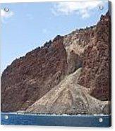 Lanais Coastline Cliffs Acrylic Print