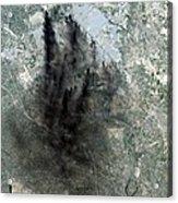 Landsat Image Of Baghdad Showing Dark Acrylic Print