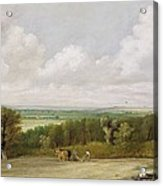 Landscape - Ploughing Scene In Suffolk Acrylic Print