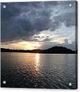 Landscape Lake At Sunset Acrylic Print