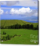 Landscape With Crater Acrylic Print