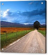 Lane Across Valley Acrylic Print