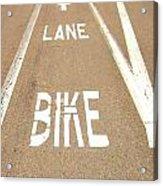 Lane Bike Acrylic Print by Jenny Senra Pampin