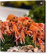 Langoustines At The Market Acrylic Print