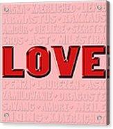 Language Of Love 4 Acrylic Print