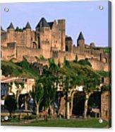 Languedoc Roussillon Carcassonne La Cite, 12th Century Castle, Carcassonne, Languedoc-roussillon, France, Europe Acrylic Print by John Elk III