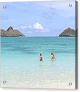 Lanikai Beach Of Oahu Acrylic Print
