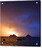 Lanikai Dawn Hawaii Acrylic Print