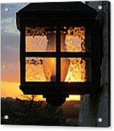 Lantern In The Sunset Acrylic Print