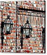 Lanterns In The Courtyard Acrylic Print