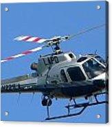 Lapd Aerial Chopper Acrylic Print