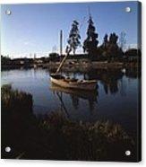 Laraquete Fishing Village In Chile Acrylic Print