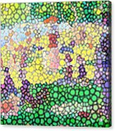 Large Bubbly Sunday On La Grande Jatte Acrylic Print