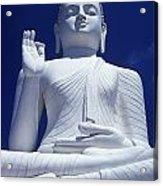 Large Seated White Buddha Acrylic Print