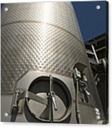 Large Steel Vat For Wine Making Acrylic Print
