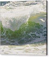Large Waves On The Coast Of Maine Acrylic Print