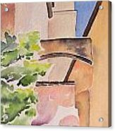 Largo Dell'oratorio Acrylic Print by Regina Ammerman