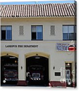 Larkspur Fire Department - Larkspur California - 5d18503 Acrylic Print by Wingsdomain Art and Photography
