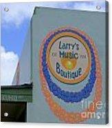 Larrys Music Boutique  Est 1952 Acrylic Print