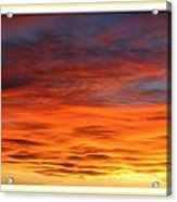 Las Cruces Sunset Acrylic Print