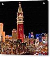 Las Vegas Canvas Panorama Acrylic Print