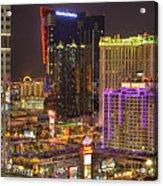 Las Vegas Nevada Acrylic Print by Nicholas  Grunas