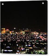 Las Vegas Nevada Nighttime Skyline Acrylic Print