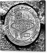 Las Vegas Strip Street Medallion Acrylic Print