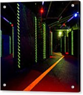 Laser Game Area With Obstacles Acrylic Print