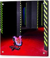 Laser Game Playing Space With Walls Acrylic Print by Corepics