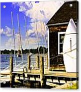Lasers On The Dock2 Acrylic Print