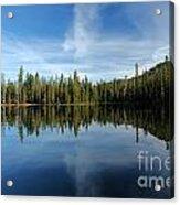 Lassen Summit Lake Reflections Acrylic Print