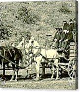 Last Deadwood Coach 1890 Acrylic Print