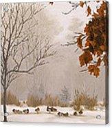 Last Leaves Acrylic Print