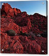 Last Light In Valley Of Fire Acrylic Print
