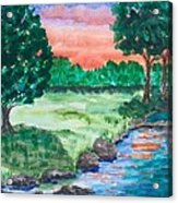 Last Light Acrylic Print by Jeanette Stewart