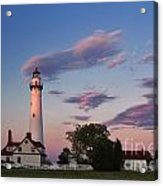 Last Light Of Day At Wind Point Lighthouse - D001125 Acrylic Print