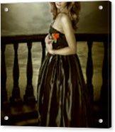 Last Red Rose Acrylic Print