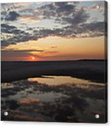 Last Sunset Of The Year Acrylic Print