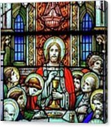 Last Supper Stained Glass Acrylic Print by Matthew Green