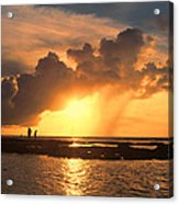 Late Afternoon Beach Walk Acrylic Print