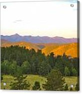 Late Light Mountains Acrylic Print