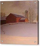Late Winter At The Lufkin Farm Acrylic Print by Mark Haley