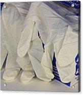 Latex Examination Gloves Acrylic Print