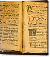 Latin Hymnal 1700 Ad Acrylic Print
