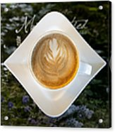 Latte With A Leaf Pattern Acrylic Print by Jaak Nilson