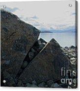 Laughing Rock On Lake Tekapo Foreshore.o Acrylic Print
