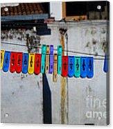 Laundry Clips Acrylic Print